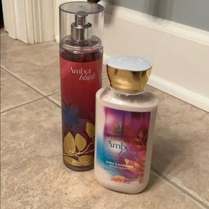 Bath & Body Works Amber Blush body spray & lotion